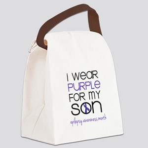 Wear Purple for Son - Epilepsy Canvas Lunch Bag