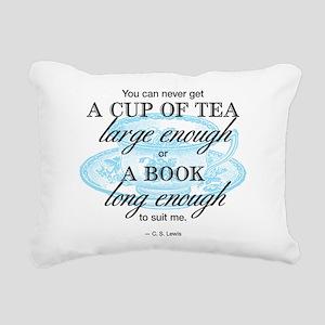 Tea Quote Rectangular Canvas Pillow