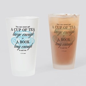 Tea Quote Drinking Glass