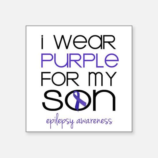 I Wear Purple for My Son Sticker