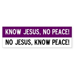 No Jesus! Bumper Bumper Sticker