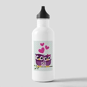 Owl Family Water Bottle