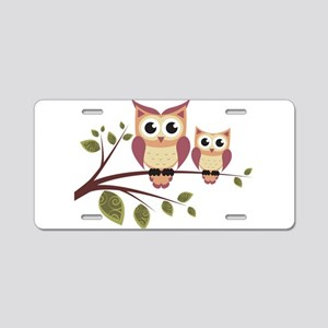 Duo of Owls Aluminum License Plate