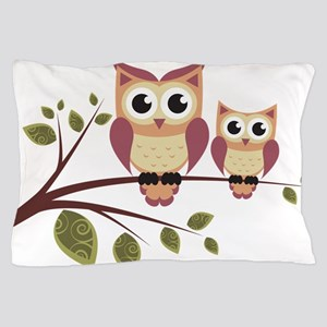 Duo of Owls Pillow Case