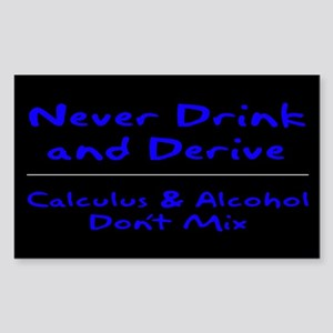 Drink and Derive Blue Rectangle Sticker