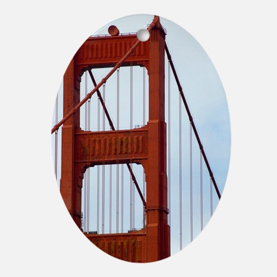 golden gate tower Oval Ornament