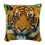 The Last Tiger? Woven Throw Pillow