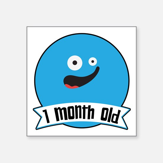 Monthly Silly Faces 1 Month Old Sticker