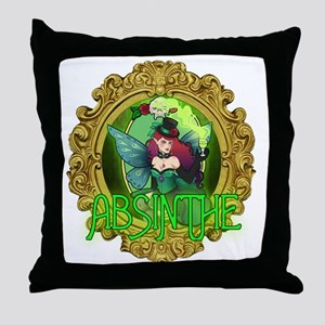 Absinthe Fairy Throw Pillow