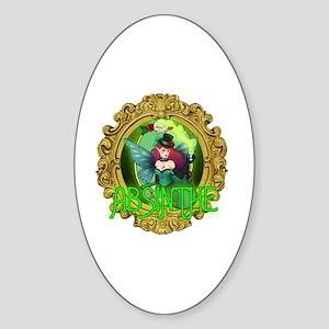 Absinthe Fairy Sticker (Oval)