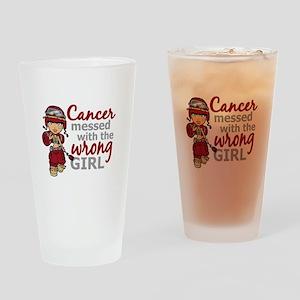 Multiple Myeloma Combat Girl Drinking Glass