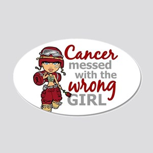 Multiple Myeloma Combat Girl 20x12 Oval Wall Decal