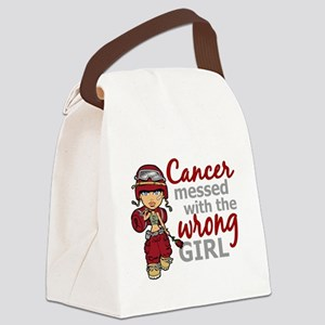 Multiple Myeloma Combat Girl Canvas Lunch Bag