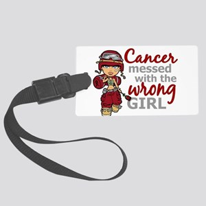 Multiple Myeloma Combat Girl Large Luggage Tag