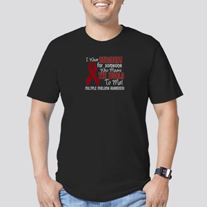 Multiple Myeloma Means Men's Fitted T-Shirt (dark)