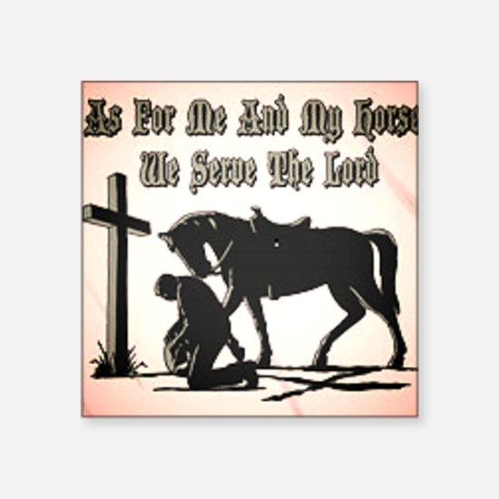 """Me and My Horse Square Sticker 3"""" x 3"""""""