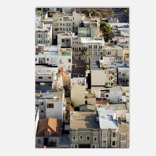 san francisco wooden buil Postcards (Package of 8)