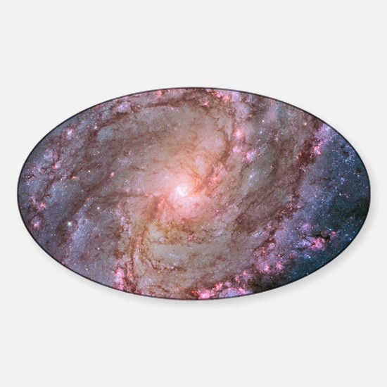 M83 Southern Pinwheel Galaxy Sticker (Oval)