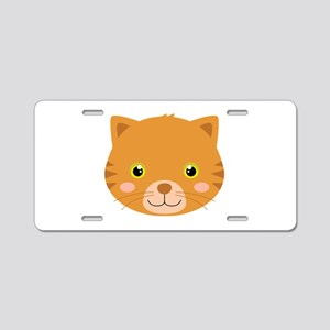 Cute Kitten Aluminum License Plate