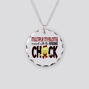 Multiple Myeloma Wrong Chick Necklace Circle Charm