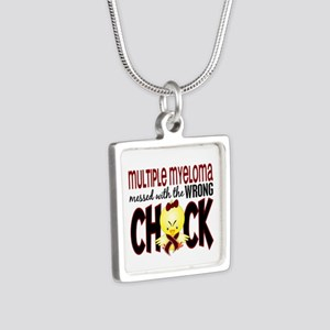 Multiple Myeloma Wrong Chi Silver Square Necklace