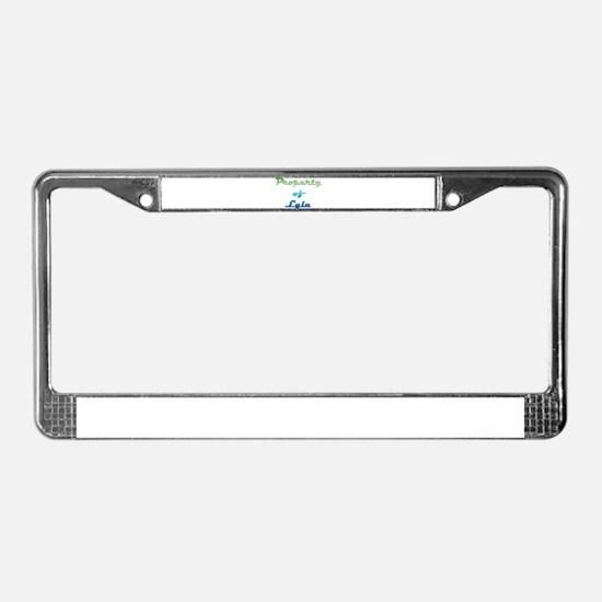 Property Of Lyla Female License Plate Frame