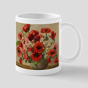 Red Poppy Bouquet Mugs