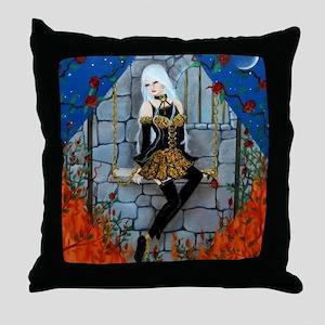 Anima Sola Lost Soul by Lori Karels Throw Pillow