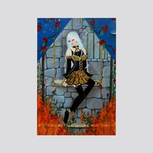 Anima Sola Lost Soul by Lori Kare Rectangle Magnet