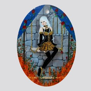 Anima Sola Lost Soul by Lori Karels Oval Ornament