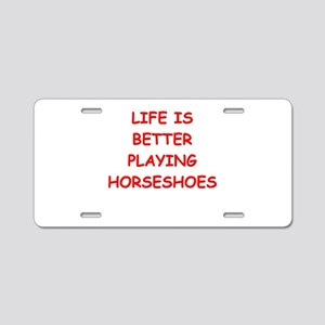 horseshoes Aluminum License Plate