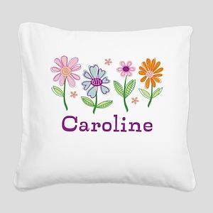 Daisy Garden Square Canvas Pillow