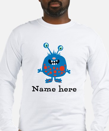 Blue Monster (p) Long Sleeve T-Shirt