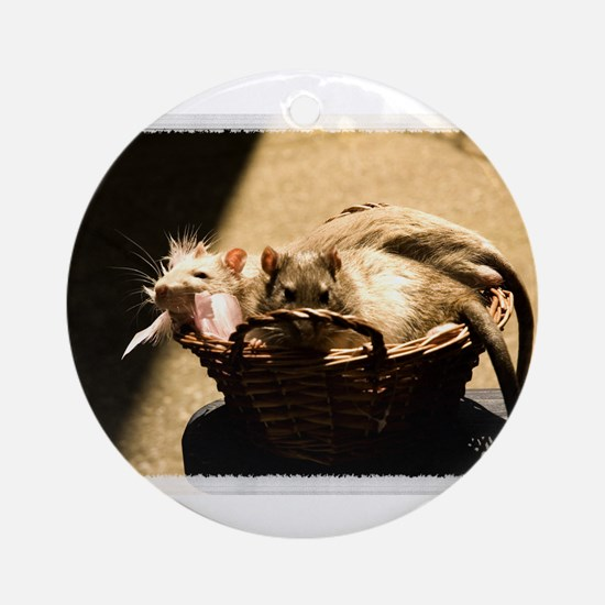 Sun and Shadow Rats Ornament (Round)