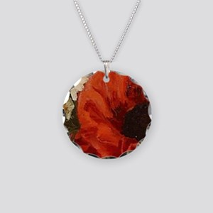 Red Poppy Bouquet Necklace