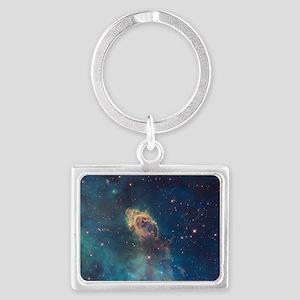 Stellar Jet in Carina Nebula Landscape Keychain