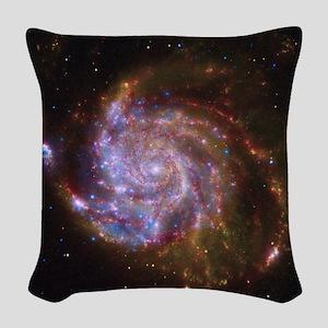 M101 Spitzer-Hubble-Chandra Co Woven Throw Pillow