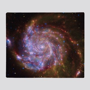 M101 Spitzer-Hubble-Chandra Composit Throw Blanket