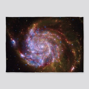 M101 Spitzer-Hubble-Chandra Composi 5'x7'Area Rug