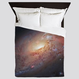 M106 Spiral Galaxy by Hubble Space Tel Queen Duvet