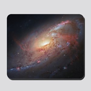 M106 Spiral Galaxy by Hubble Space Teles Mousepad