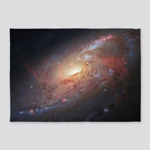M106 Spiral Galaxy by Hubble Space  5'x7'Area Rug