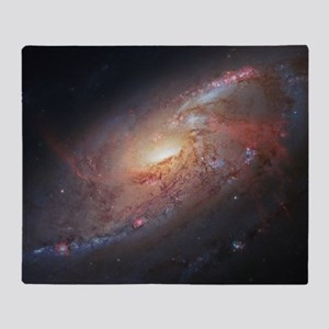 M106 Spiral Galaxy by Hubble Space T Throw Blanket