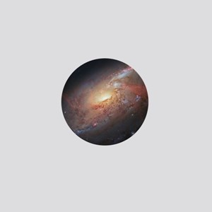 M106 Spiral Galaxy by Hubble Space Tel Mini Button
