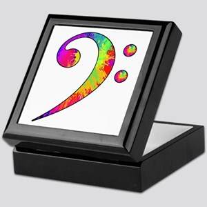 Bass Clef - paint splattered Keepsake Box