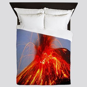 Krakatoa Volcano Hawaii Queen Duvet