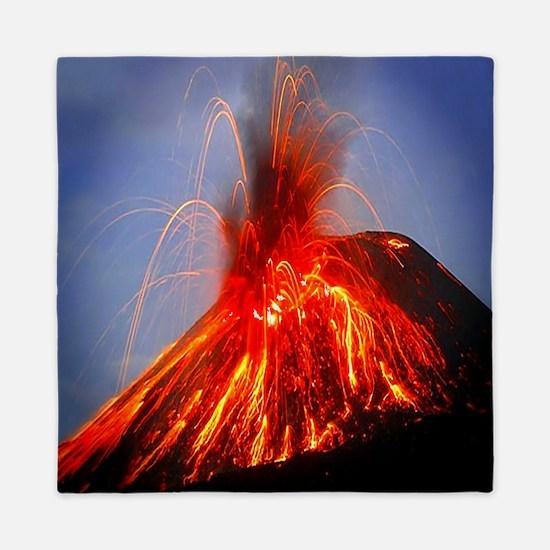 Krakatoa Volcano Hawaii Queen Duvet