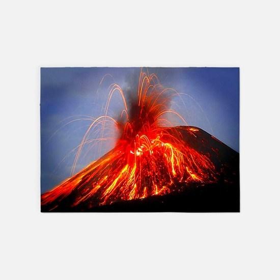 Krakatoa Volcano Hawaii 5'x7'Area Rug