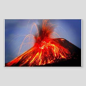Krakatoa Volcano Hawaii Sticker (Rectangle)