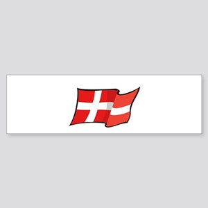 Danish Flag Bumper Sticker
